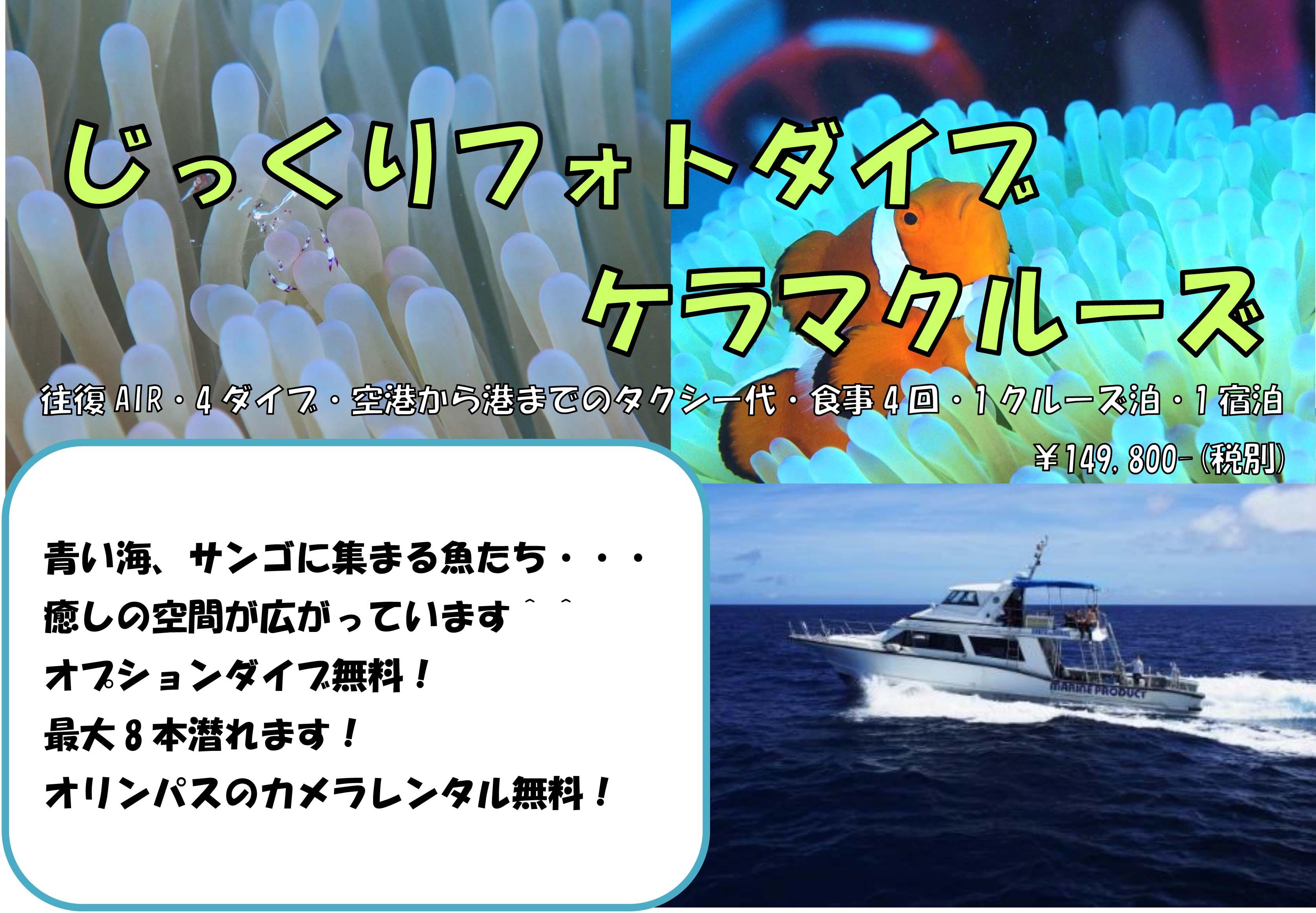 11/16(土)~18(日)じっくりフォトダイブ★ケラマクルーズ